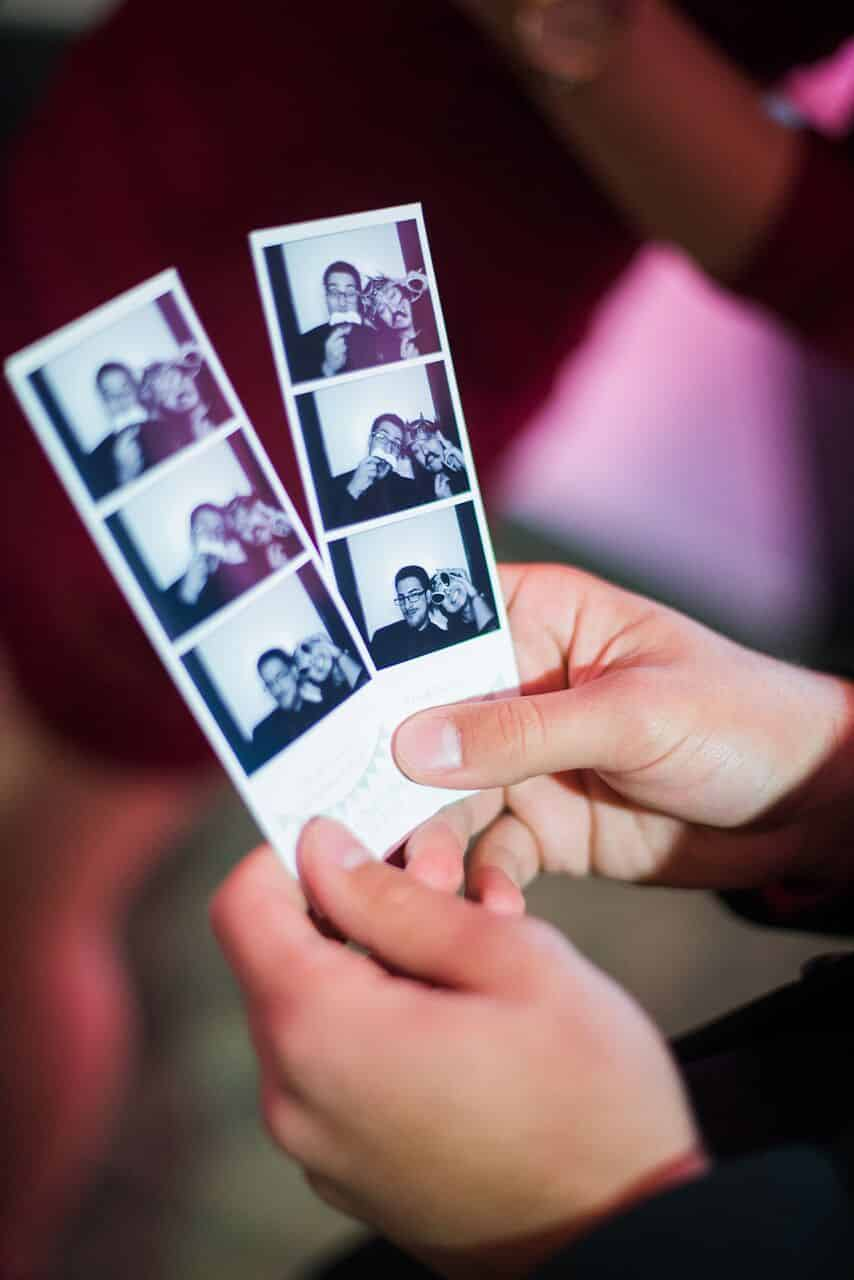 black classic photo booth at leu gardens wedding natasha u0026 manny